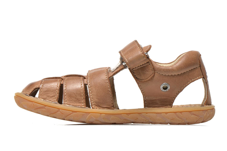 Sandales et nu-pieds Noël BOON Marron vue face