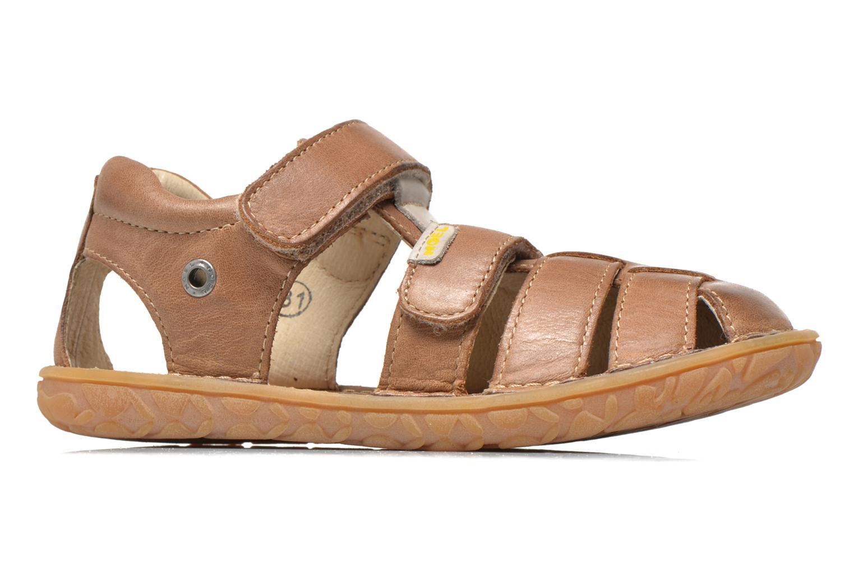 Sandales et nu-pieds Noël BOON Marron vue derrière