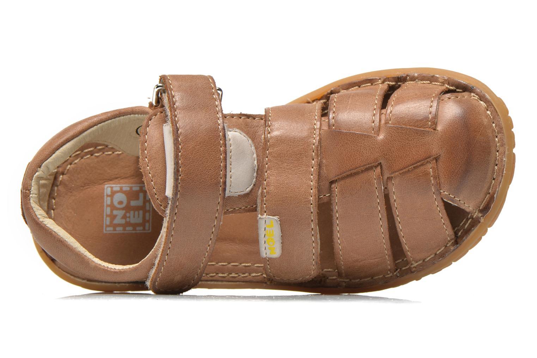 Sandales et nu-pieds Noël BOON Marron vue gauche
