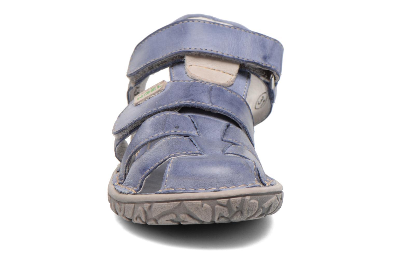 Sandales et nu-pieds Noël BOON Bleu vue portées chaussures