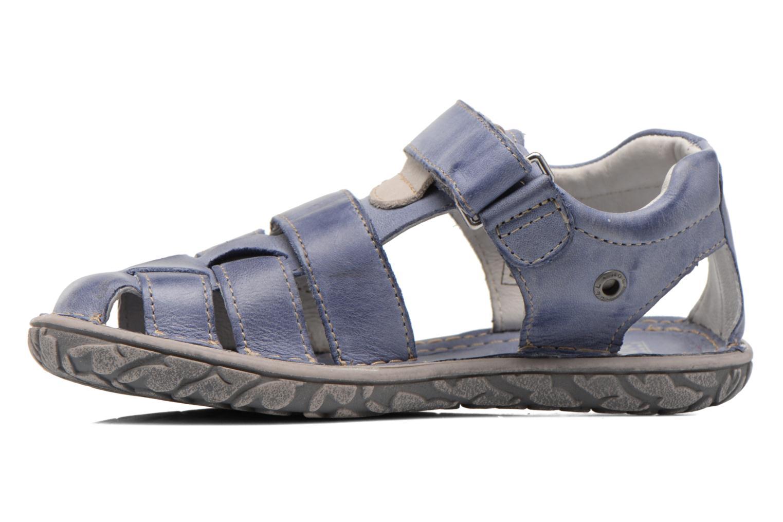 Sandales et nu-pieds Noël BOON Bleu vue face