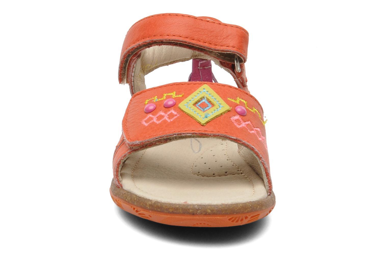 Sandales et nu-pieds Noël MINI LOXA Rouge vue portées chaussures