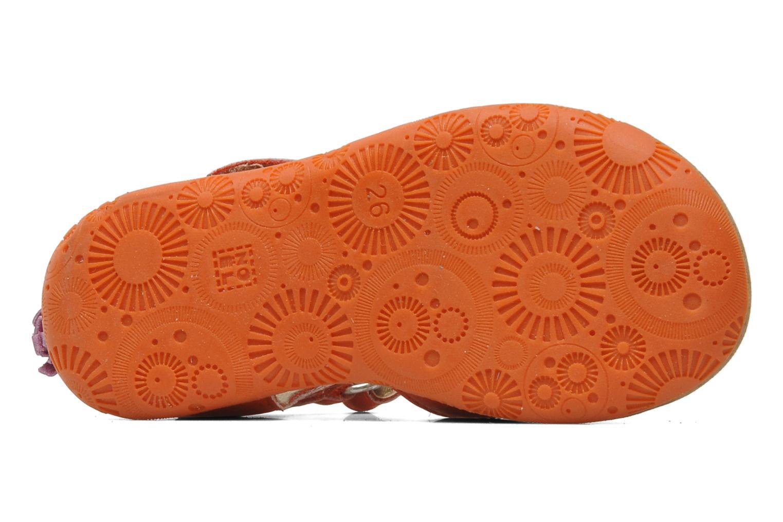 Sandales et nu-pieds Noël MINI LOXA Rouge vue haut