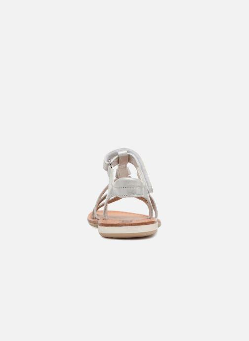 Sandales et nu-pieds Noël Strass Argent vue droite
