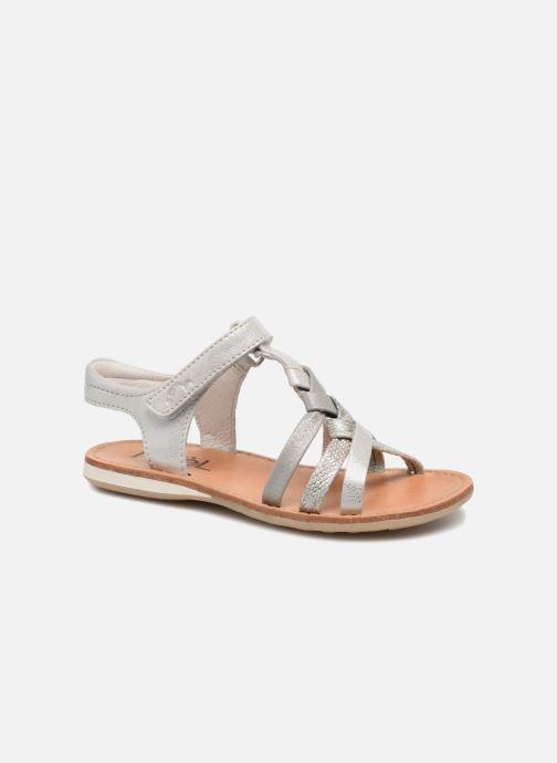 Sandales et nu-pieds Noël Strass Argent vue détail/paire