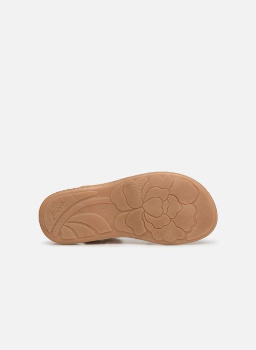 Sandales et nu-pieds Noël Strass Argent vue haut