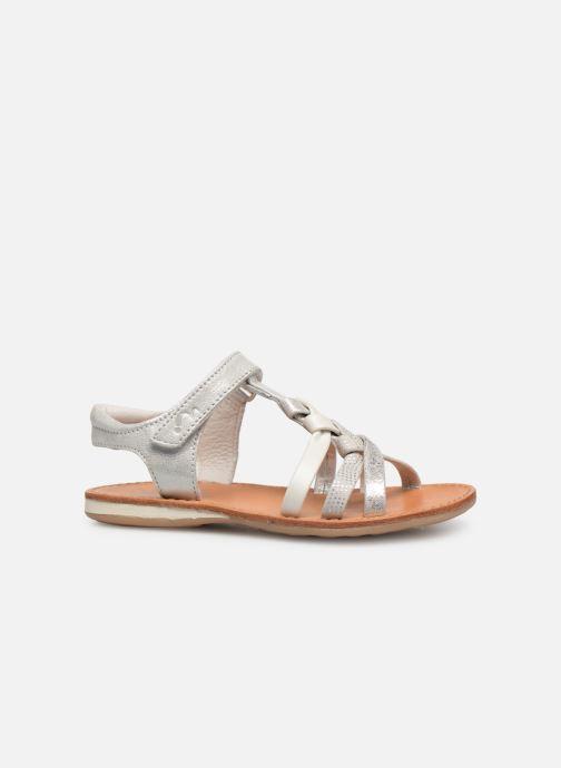 Sandales et nu-pieds Noël Strass Argent vue derrière