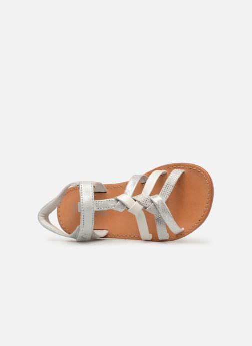 Sandales et nu-pieds Noël Strass Argent vue gauche