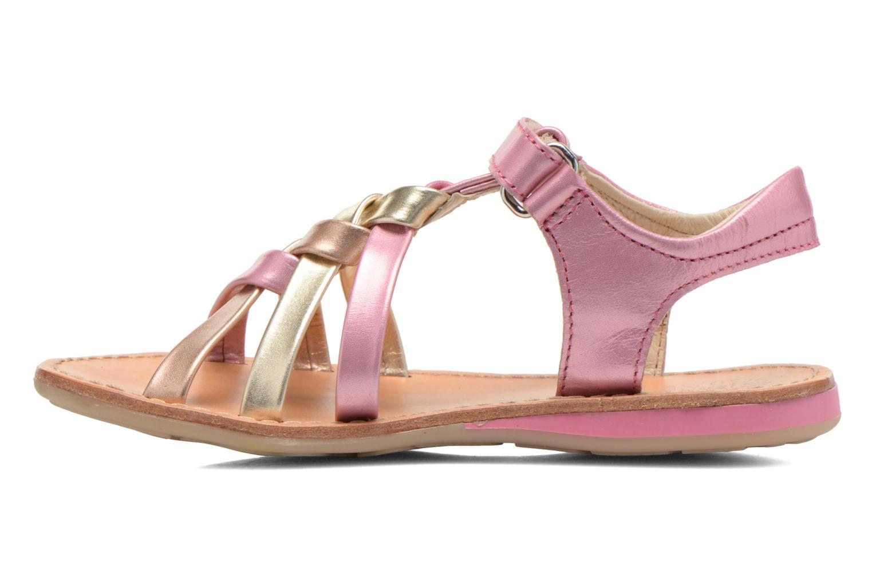Sandales et nu-pieds Noël Strass Rose vue face