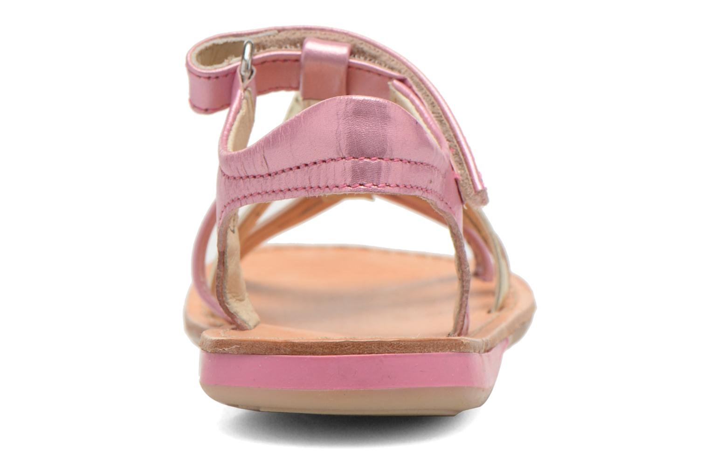 Sandales et nu-pieds Noël Strass Rose vue droite