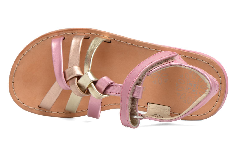 Sandales et nu-pieds Noël Strass Rose vue gauche
