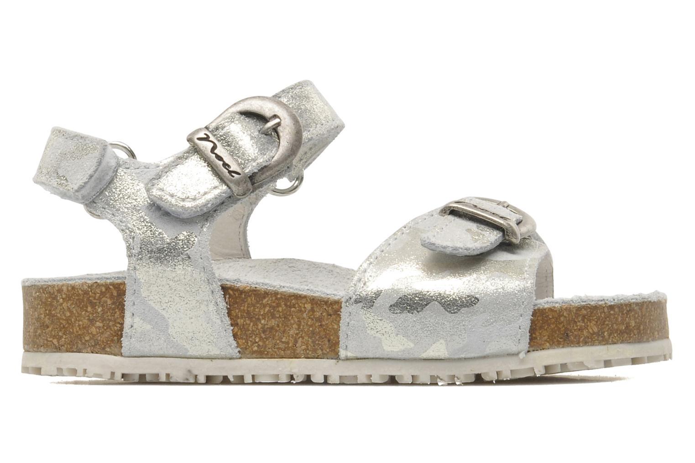 Sandales et nu-pieds Noël QUIRK Argent vue derrière