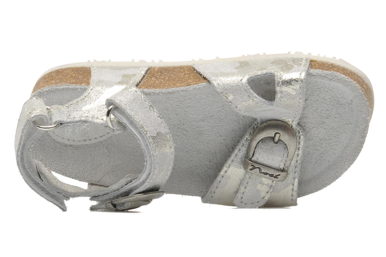 Sandales et nu-pieds Noël QUIRK Argent vue gauche
