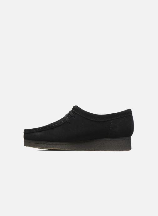Zapatos con cordones Clarks Originals Wallabee W Negro vista de frente