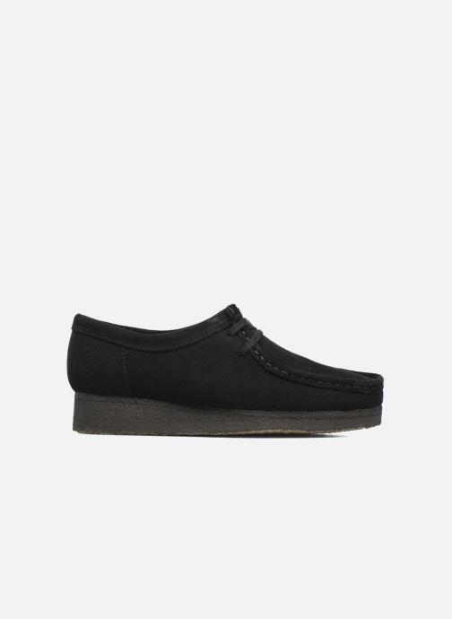 Zapatos con cordones Clarks Originals Wallabee W Negro vistra trasera