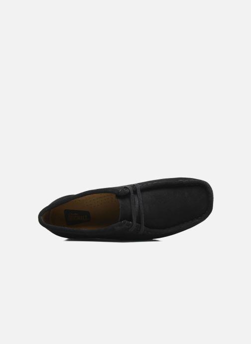 Scarpe con lacci Clarks Originals Wallabee W Nero immagine sinistra