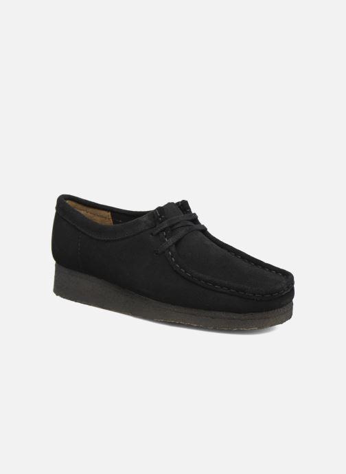 Zapatos con cordones Clarks Originals Wallabee W Negro vista de detalle / par