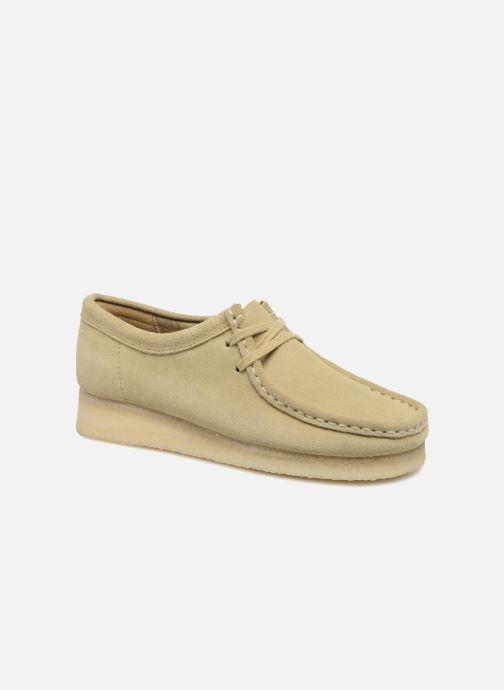 46abb9f154e0ed Chaussures à lacets Clarks Originals Wallabee W Beige vue détail/paire