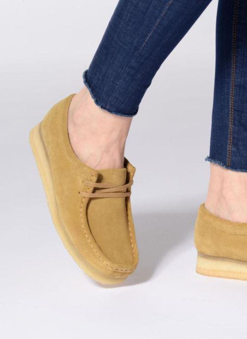 Chaussures à lacets Clarks Originals Wallabee W Rose vue bas / vue portée sac