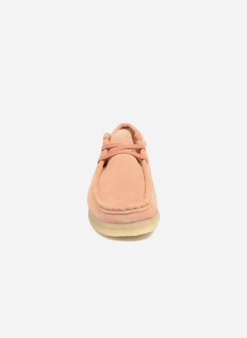 Lace-up shoes Clarks Originals Wallabee W Pink model view