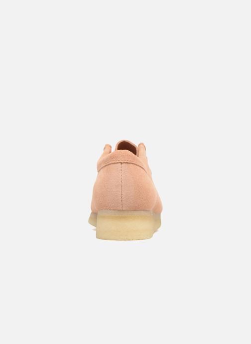 Lace-up shoes Clarks Originals Wallabee W Pink view from the right