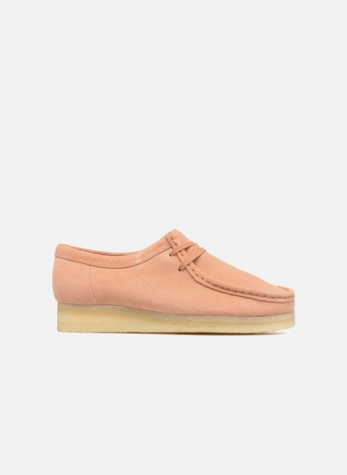 Lace-up shoes Clarks Originals Wallabee W Pink back view
