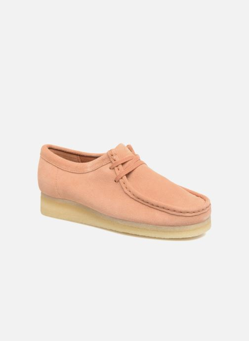Lace-up shoes Clarks Originals Wallabee W Pink detailed view/ Pair view