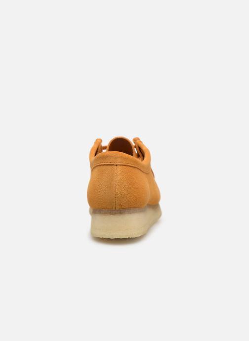 Zapatos con cordones Clarks Originals Wallabee W Amarillo vista lateral derecha
