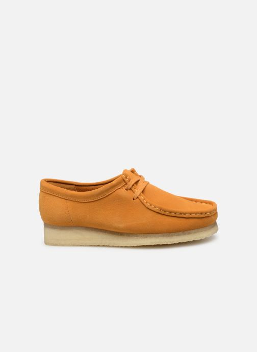 Zapatos con cordones Clarks Originals Wallabee W Amarillo vistra trasera