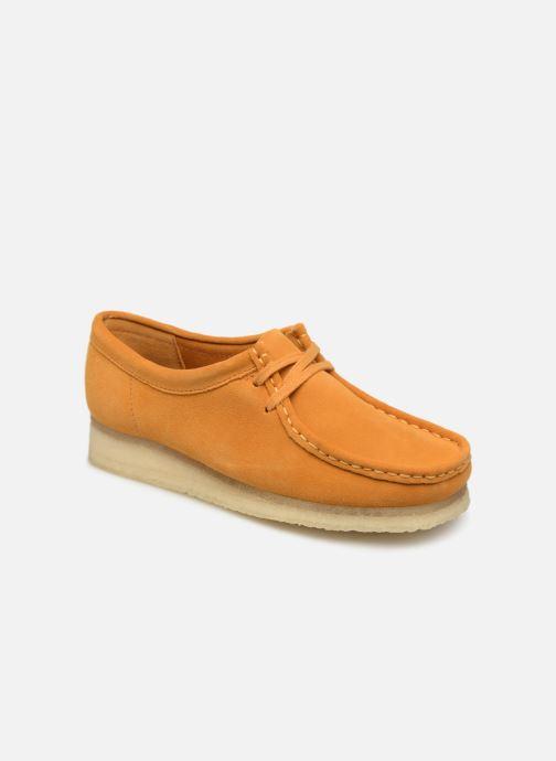 Zapatos con cordones Clarks Originals Wallabee W Amarillo vista de detalle / par