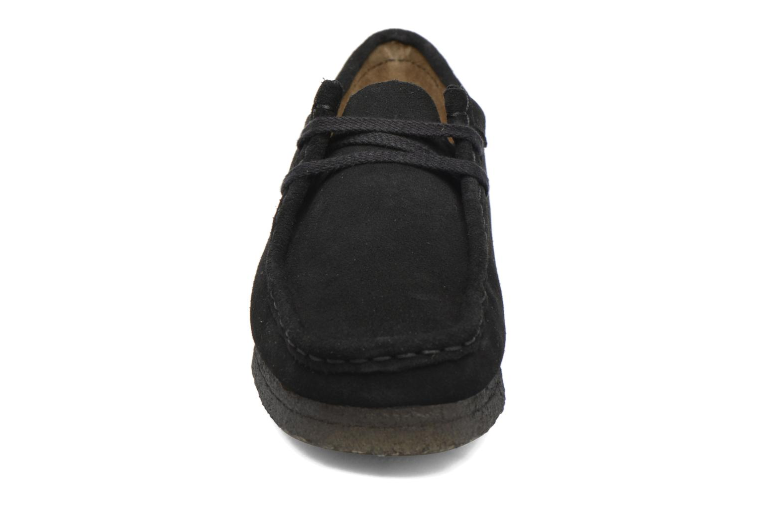 Lace-up shoes Clarks Originals Wallabee W Black model view