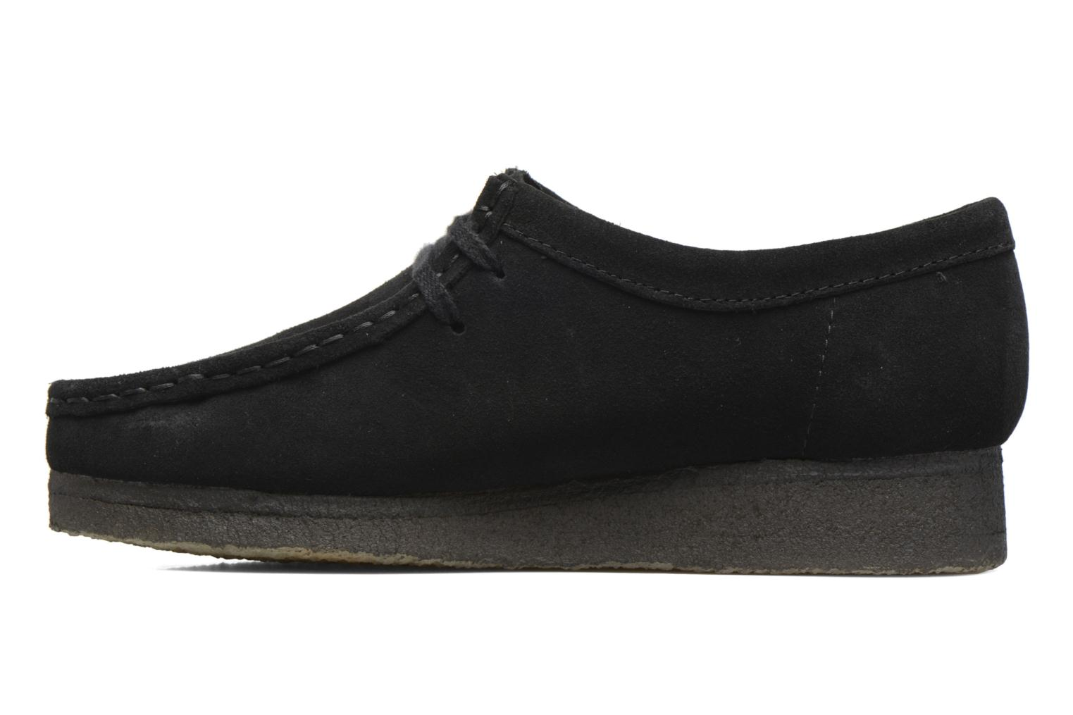 Lace-up shoes Clarks Originals Wallabee W Black front view