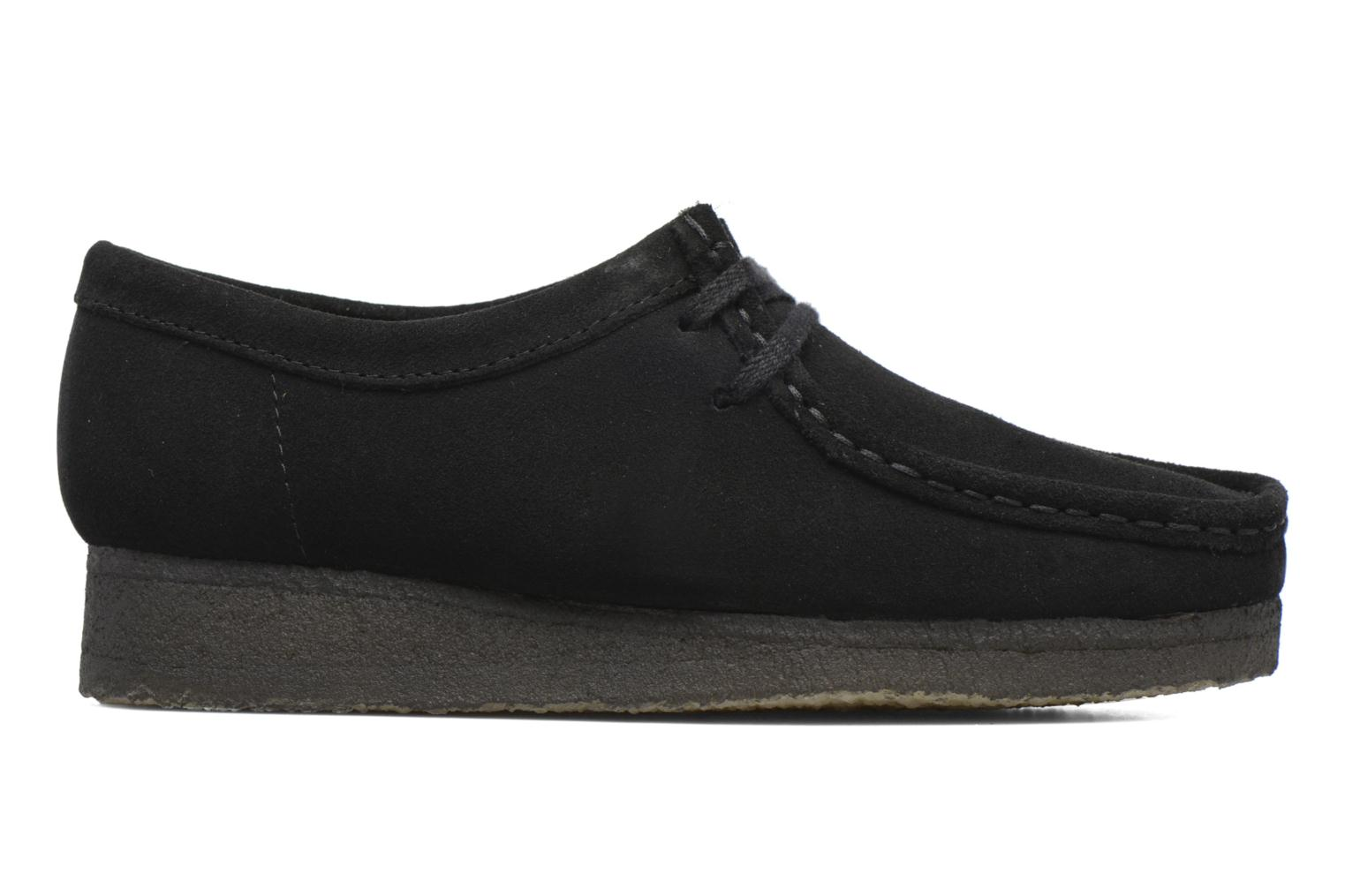 Lace-up shoes Clarks Originals Wallabee W Black back view