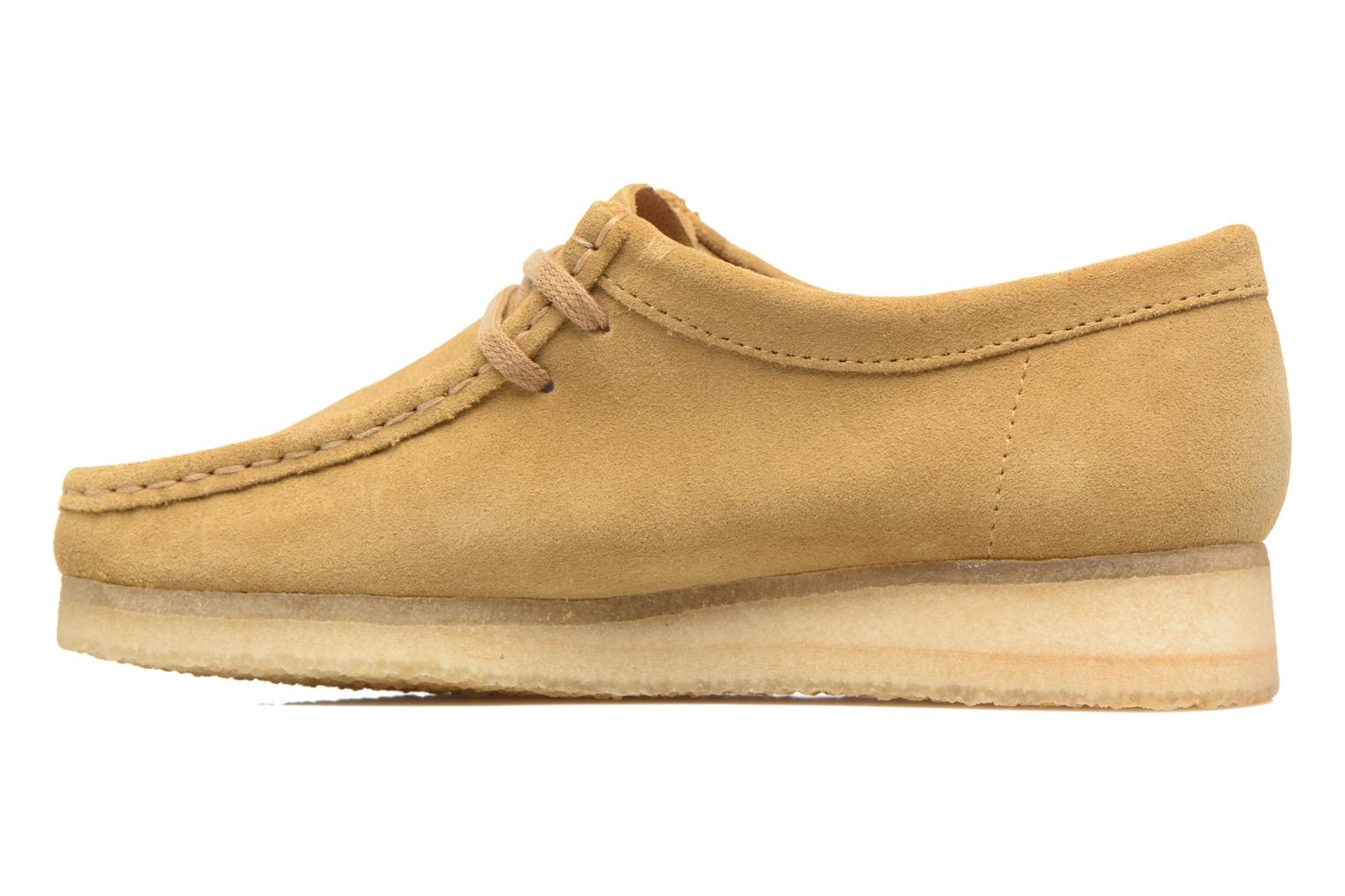 Lace-up shoes Clarks Originals Wallabee W Beige front view