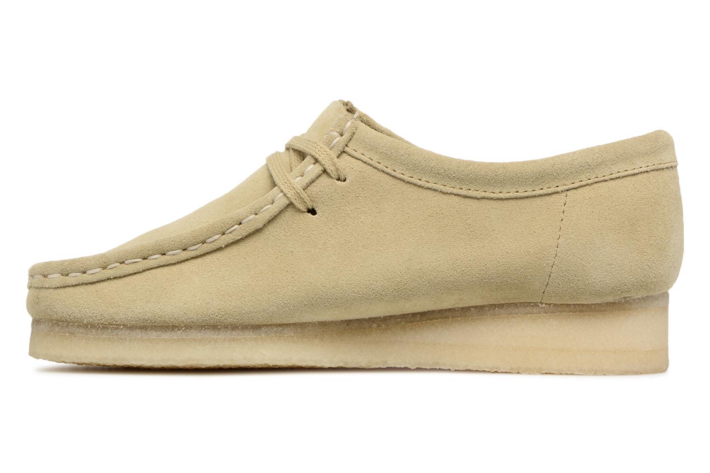 Chaussures à lacets Clarks Originals Wallabee W Beige vue face