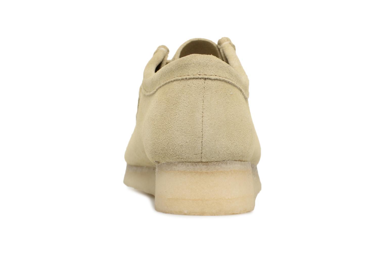 Chaussures à lacets Clarks Originals Wallabee W Beige vue droite