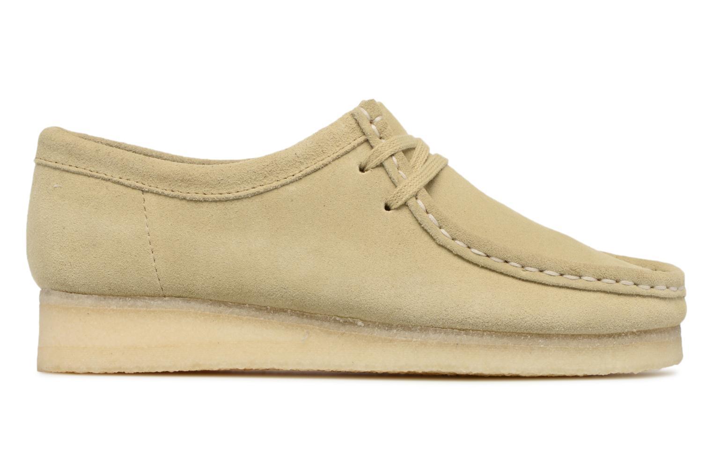Chaussures à lacets Clarks Originals Wallabee W Beige vue derrière