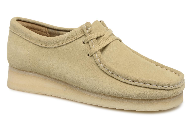 Chaussures à lacets Clarks Originals Wallabee W Beige vue détail/paire