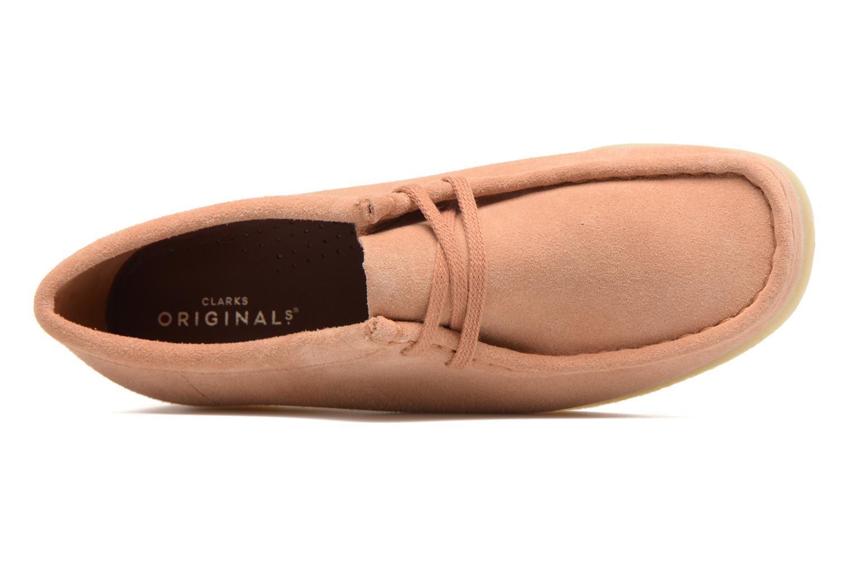 Schnürschuhe Clarks Originals Wallabee W rosa ansicht von links