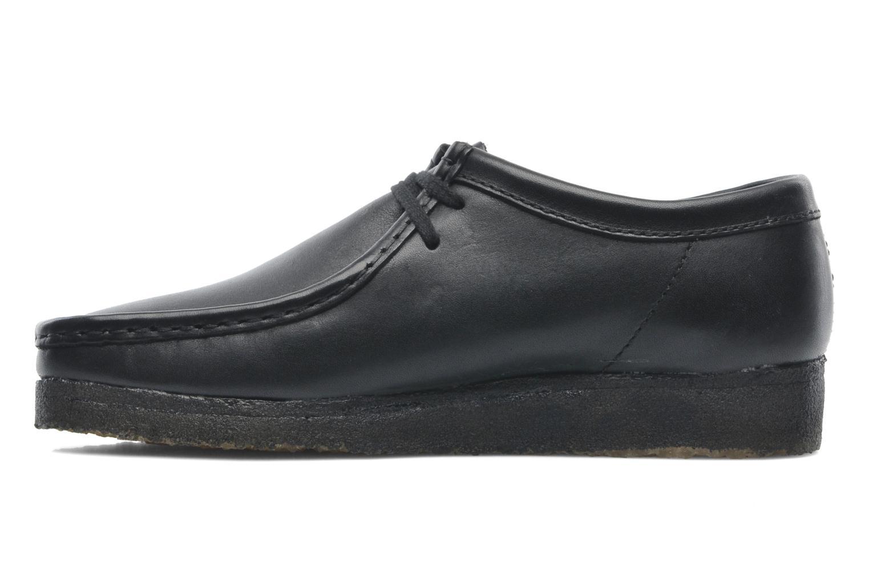 Zapatos con cordones Clarks Originals Wallabee M Negro vista de frente