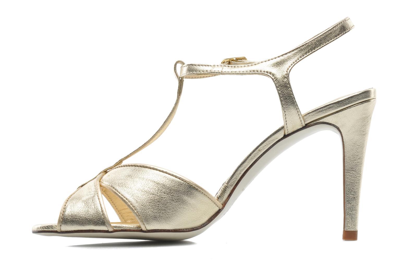 Sandales et nu-pieds Georgia Rose Rutaime Or et bronze vue face