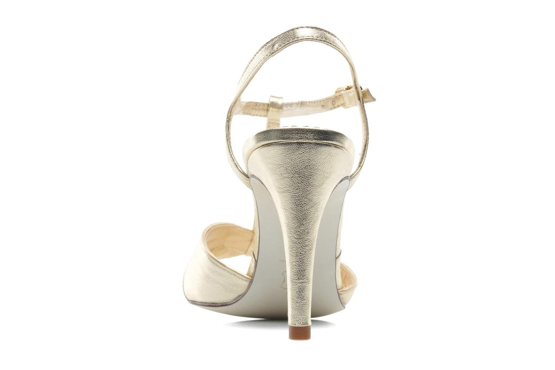 Sandales et nu-pieds Georgia Rose Rutaime Or et bronze vue droite