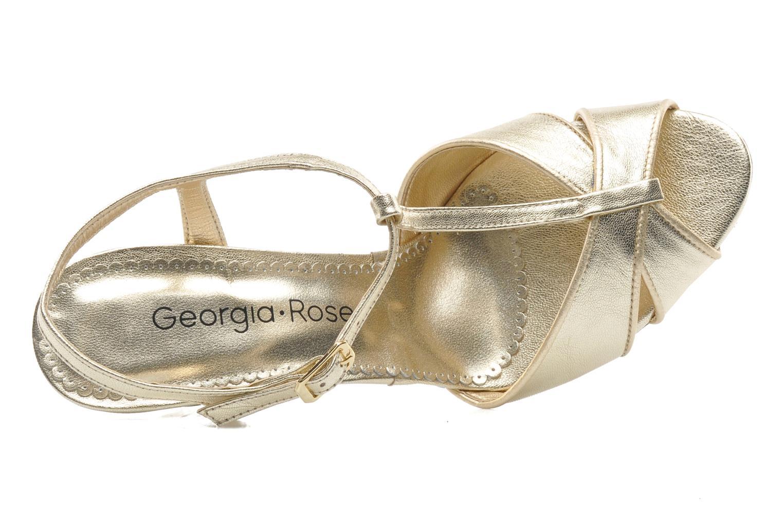 Sandales et nu-pieds Georgia Rose Rutaime Or et bronze vue gauche