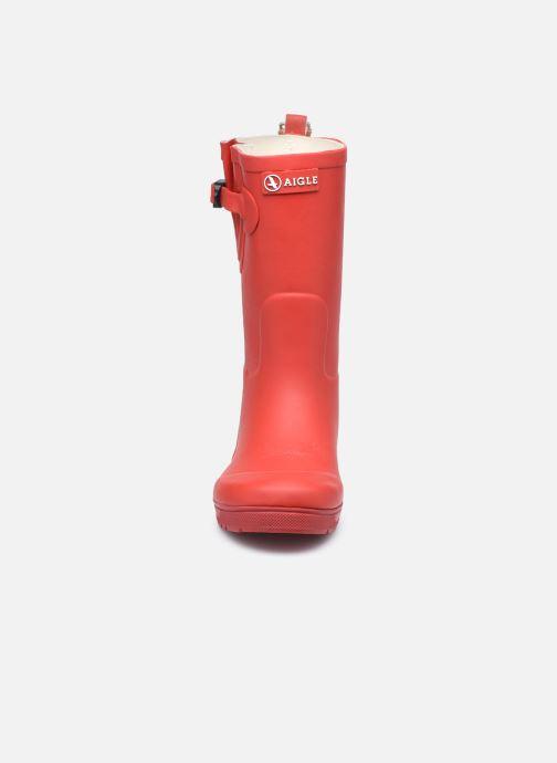 Bottes Aigle Woody Pop Rouge vue portées chaussures