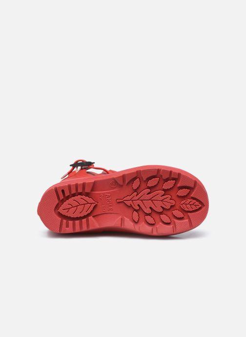 Bottes Aigle Woody Pop Rouge vue haut