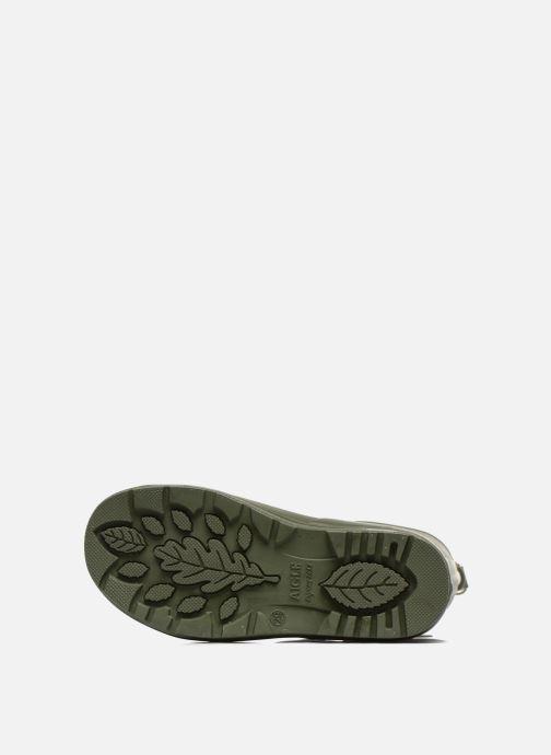Stiefel Aigle Woody Pop grün ansicht von oben