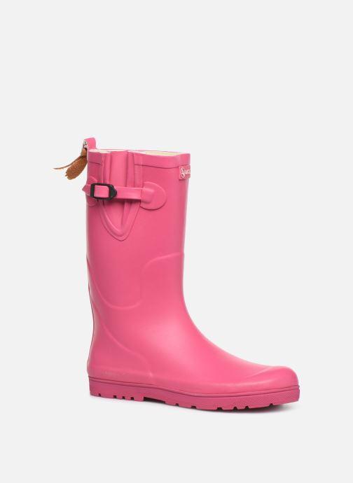 Støvler & gummistøvler Aigle Woody Pop Pink detaljeret billede af skoene