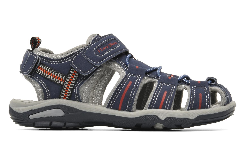 Sandales et nu-pieds I Love Shoes Oliv Bleu vue derrière