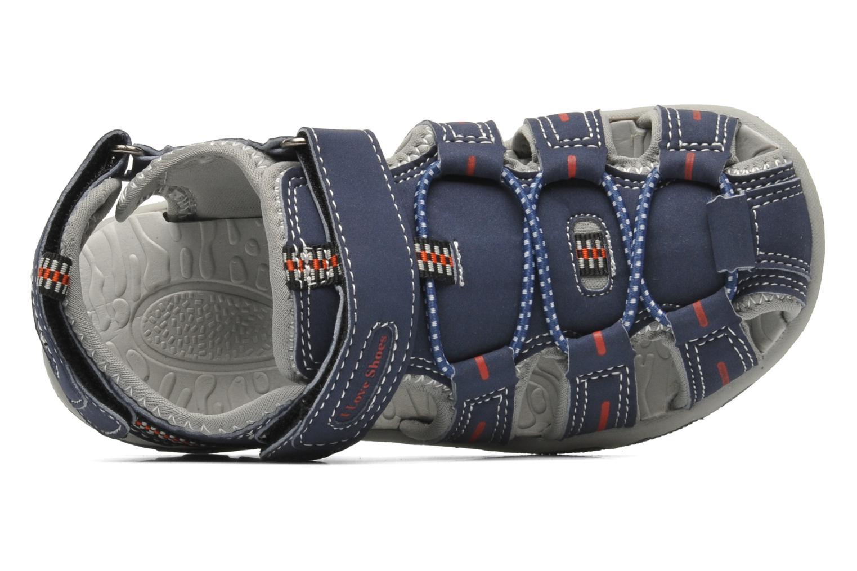 Sandales et nu-pieds I Love Shoes Oliv Bleu vue gauche