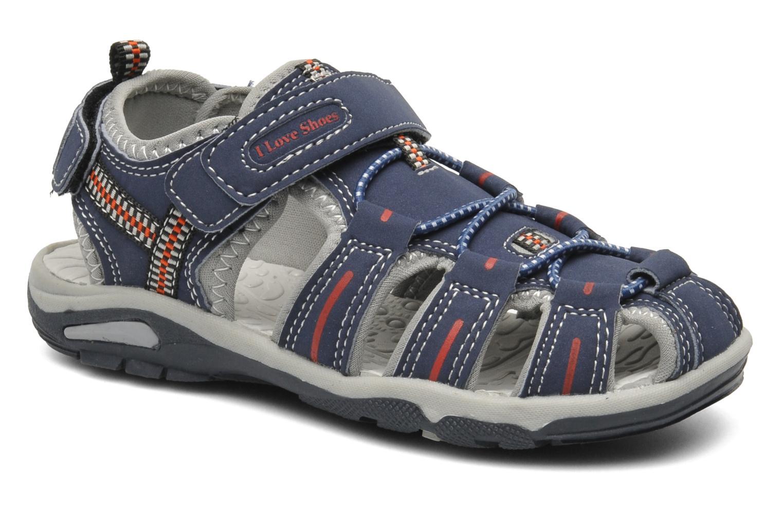 Sandales et nu-pieds I Love Shoes Oliv Bleu vue détail/paire